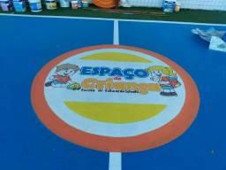 Título do anúncio: Pintura de quadra poliesportiva