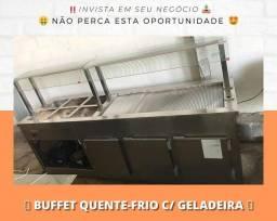 Buffet conjugado quente e frio com depósito refrigerado | Matheus