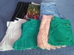 Título do anúncio: Shorts/bermudas feminina, veste 38/40