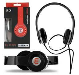 Fone de Ouvido Headphone Preto - Novo