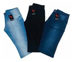 Ganhe uma calça de Graça - kit 3 Calças Jeans Masculina Original Slim