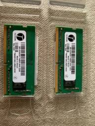 2 memórias de 4gb ddr4 2666mhz para notebook