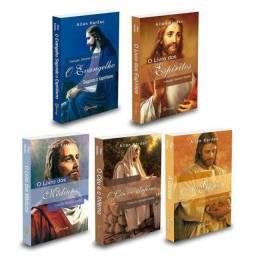 5 livros físicos obras de Allan Kardec