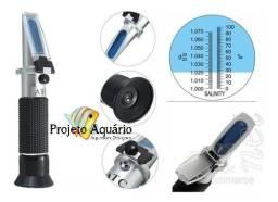 Refratômetro de salinidade para aquários marinhos