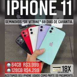 iPhone 11 64gb, aceitamos seu iPhone usado como parte do pagamento.