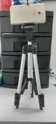 Tripé Telescópico Profissional P/Câmera/Celular Tripod 3110