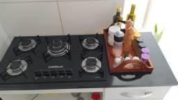 Cooktop Chamalux 5 bocas com gabinete. Contato: *