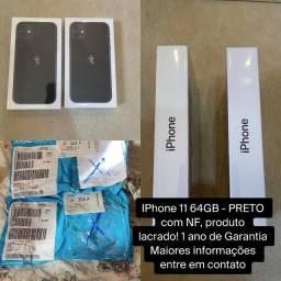 IPhone 11 64GB Preto - NOVO