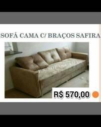 Lindo Sofá Cama com braços, útil e moderno! (Novos)