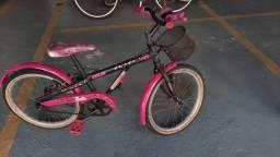 Vendo Bicicleta Caloi Aro 24 Rosa Barbie Usada