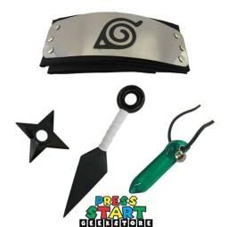 Kit-Naruto Completo Cosplayer (não cortante-não fere)
