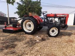 Título do anúncio: Trator agrale 4100 com grade e roçadeira