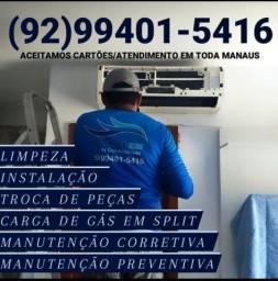 Título do anúncio: Instalação de Split manutenção limpeza