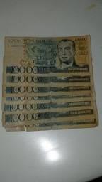 Título do anúncio: Cédulas de Dinheiro Cruzado/cruzeiro