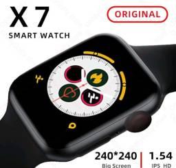 IWO X7 Smartwatch Relógio Inteligente Troca Foto