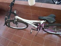 Bicicleta Track Tb200 branco com rosa