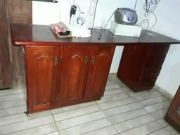 Mesa de escritório em madeira com rodas em cilicone zap.981346516 para mais informações