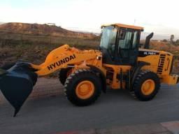 Pá Carregadeira Motor Cummins, marca Hyundai HL740-9