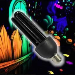 Lampada Luz Negra 25w 220v E27 Fluor Neon Uv Rave Dj fluor decoração