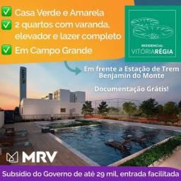Apartamentos com Varanda - Elevador - frente estação de trem em Campo Grande
