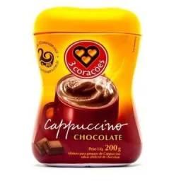 """""""Cappuccino 3 corações sabor chocolate e clássic """""""
