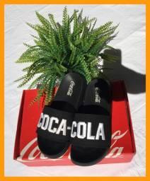 Chinelo Slide coca-cola