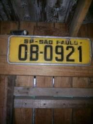 Placa antiga de carro