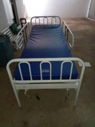 Título do anúncio: Cama hospitalar manual com colchão