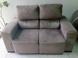 Sofá usado retrátil e reclinável