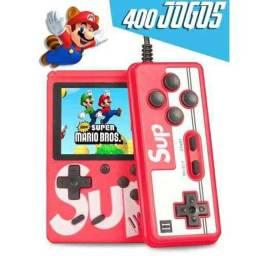 Mini Vídeo Game Portátil 400 Jogos Retro Clássico Controle 2 Jogadores SUP ?