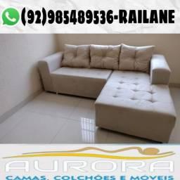 Título do anúncio: Sofás de 3 lugares com chaise >>> novos /// entrega grátis :)