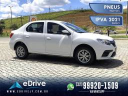 Renault LOGAN Zen Flex 1.0 Mec - IPVA 2021 Pago - Carro do Ano c/ Preço de Seminovo - 2020