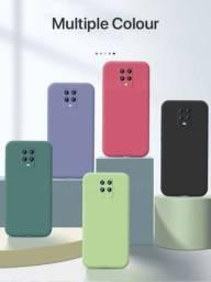 Capinha  Xiaomi Note 9s/9pro Silicone Proteção da Câmera