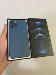 Título do anúncio: Iphone 12 Pro 128gb Pacific Blue !! IMPECÁVEL !! R$6599,00 ou em até 12x de R$604,90 !!