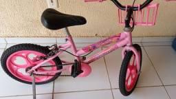 Título do anúncio: Bicicleta infantil aro 16 Barbie Rosa