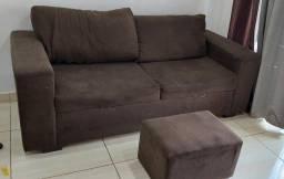 Sofá 3 lugares + Puff R$ 390,00