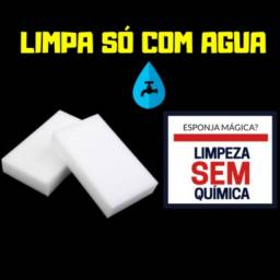 Título do anúncio: Esponja Magica de Limpeza  ( limpa so com agua)
