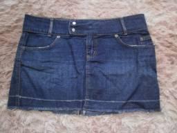Título do anúncio: Saia Jeans Feminina - Tam 46