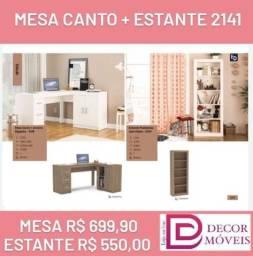 Mesa Canto + Estante 2141