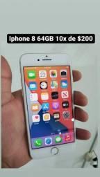 Título do anúncio: Iphone 8 64GB 10x de $200