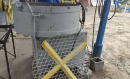 Misturador de concreto refratário, premoldado, argamassa