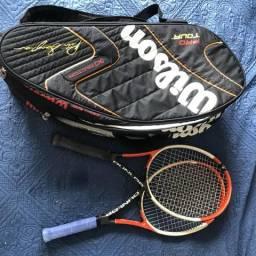 Raquetes e bolsa