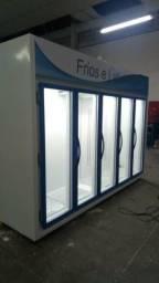 Auto Serviço 5 Portas Balcão Refrigerado Frios e laticínios 3 metros