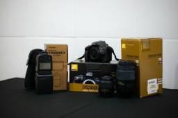 Nikon D5300 + Lentes + flash + Bolsa
