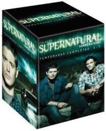 DVD Box Supernatural - Sobrenatural - 1ª A 5ª Temporada Completa - 29 Discos