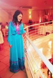 76470b012 Vestido Madrinha Formatura Azul Tiffany (Serenite) Tamanho P M
