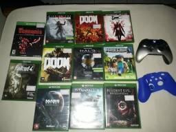 Vendo jogos e controle xbox one
