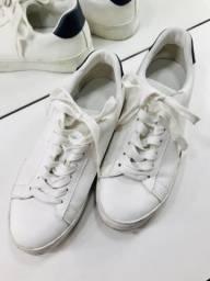 Tênis Zara, cor branco, tamanho 41. ORIGINAL