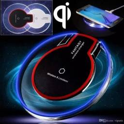 Carregador Sem Fio Indução Qi + Receptor Micro Usb Universal<br>
