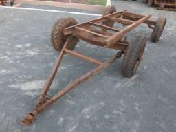 Chassi 4 rodas de trator